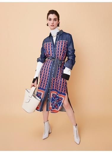 Ipekyol Gizli Patlı Kuşaklı Elbise Mercan